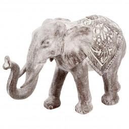 Eléphant blanchi en résine H20 - Instinct Naturel