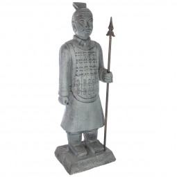 Statue Samouraï gris H 75 cm