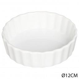 Tartelette céramique blanche D12.5