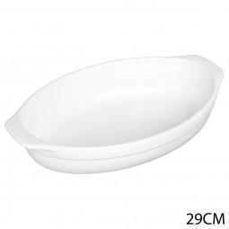 Plat ovale blanc céramique 29X17