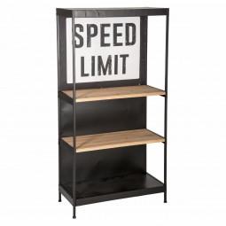"""Étagère noire """"Speed limit"""" 3 niveaux"""