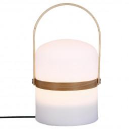 Lampe Nomade avec anse en bois H 26,5 cm