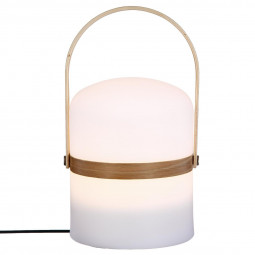 Lampe Outdoor & anse en bois H26,5