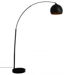 Lampadaire noir en métal H175