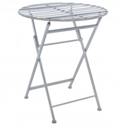 "Table pliante grise ""Niena"" en métal"