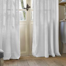 Rideau blanc Folk 140 x 260 cm