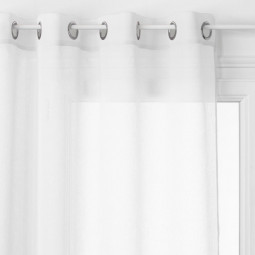 Voilage blanc Georgette 140 x 240 cm