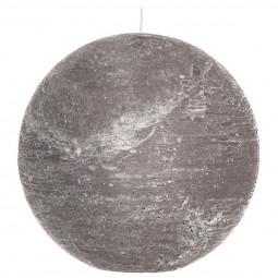 Bougie rustique boule grise D15