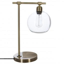 """Lampe """"Jody"""" en métal & abat-jour en verre H45"""