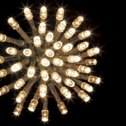 Guirlande lumineuse d'extérieur 100 LED Blanc chaud sur 10 mètres et 8 Jeux de lumière