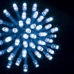 Guirlande lumineuse d'extérieur 200 LED Bleu sur 20 mètres et 8 Jeux de lumière