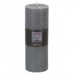 Bougie ronde rustique grise D6,7