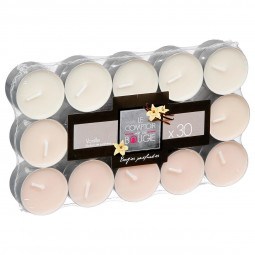 Lot de 30 bougies parfumées vanille