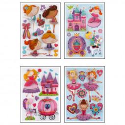 Sticker Kids Fille 3D 30X40