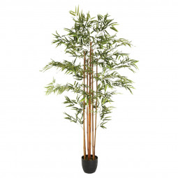 Bambou artificiel en pot H 180 cm