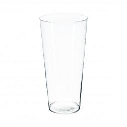 Vase conique transparent H30