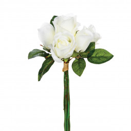 Bouquet 7 roses blanches H30
