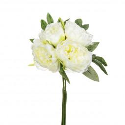 Bouquet de 4 pivoines blanches H30