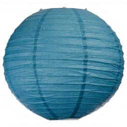 Lanterne boule uni bleu D35