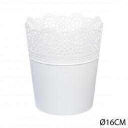 Pot dentelle en plastique D16