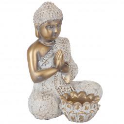 Photophore bouddha doré
