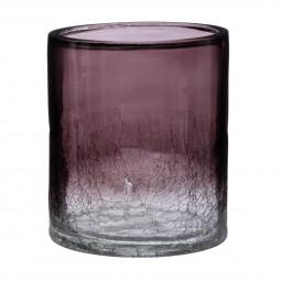 Photophore cylindrique en verre D10