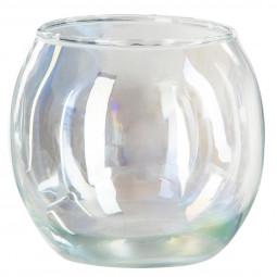 Photophore rond en verre H 7 cm