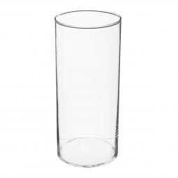 Vase cylindre transparent H 30 cm