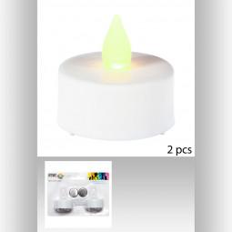 Lot de 2 bougies CP LED 3.8x4