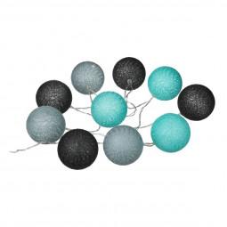 Guirlande LED à piles 10 boules