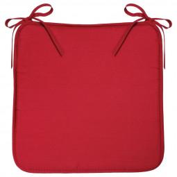 Galette de chaise rouge 39x39 cm