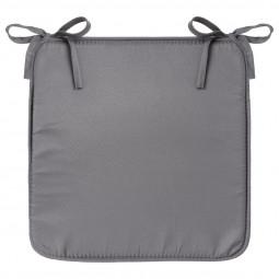 Galette de chaise gris foncé 39x39 cm
