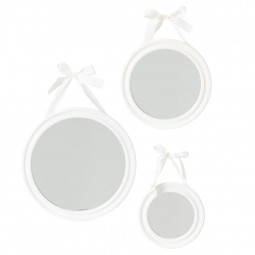 Lot de 3 miroirs ronds à ruban