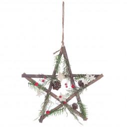 Décoration de Noël Étoiledécorée à suspendre D 29 cm Un Noël kinfolk