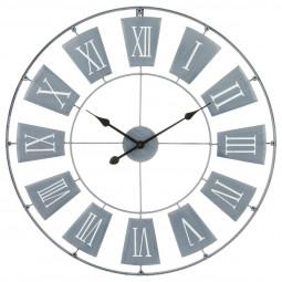 Pendule métal gris clair D76