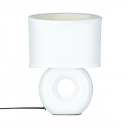 Lampe en céramique à pied rond H26
