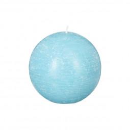 Bougie boule rustique turquoise D8
