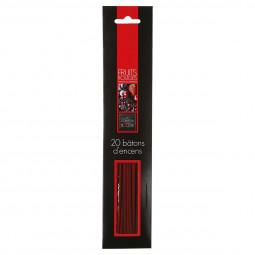 Lot de 20 bâtons encens fruits rouges H25.5