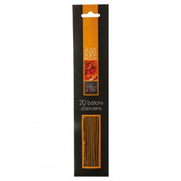 Lot de 20 bâtons encens ambre H25.5