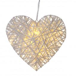 Coeur LED en osier