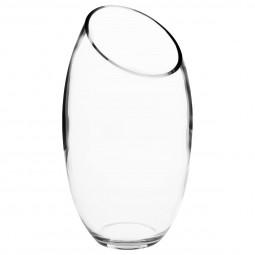 Vase bombé transparent D14.5XH27.5