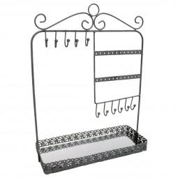 Porte bijoux métal avec miroir