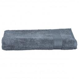 Drap de bain gris foncé 100x150 cm