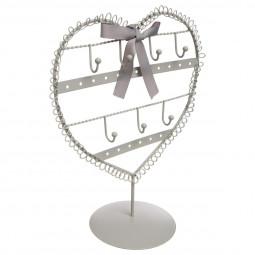 Porte Bijoux Coeur en métal H 25 cm