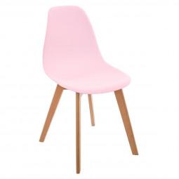 Chaise rose en polypropylène pour chambre d'enfant