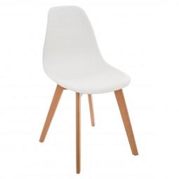 Chaise blanche en polypropylène pour chambre d'enfant