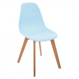 Chaise bleue en polypropylène pour chambre d'enfant