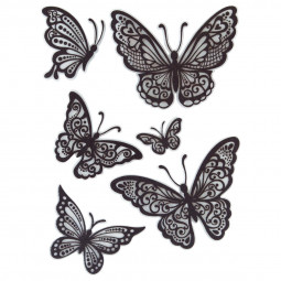 Sticker relief papillon 30X40
