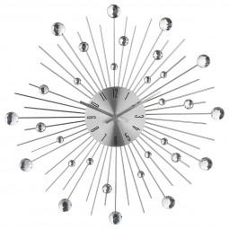Pendule alu strass D50