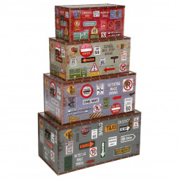Lot de 4 malles canvas city